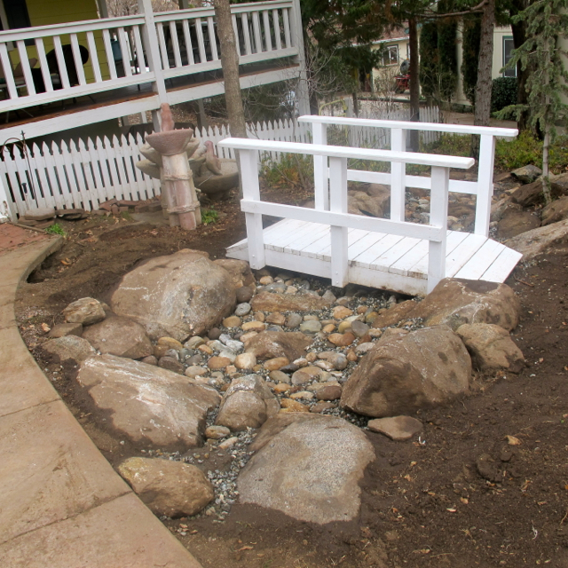 Newly placed boulders look much more natural